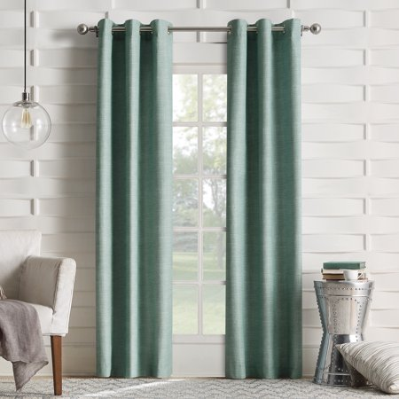 Sun Zero Caleb Linen Texture Thermal Insulated Energy Efficient Grommet Curtain