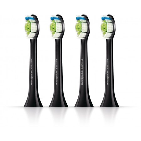 Philips Sonicare DiamondClean Brush Heads, Black, 4 Toothbrushes HX6064 ()