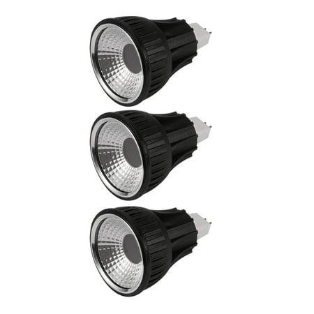 Black Mr16 Lamps - Unique Bargains 3 Pcs Black MR16 Base PAR20 COB Lamp Housing COB Light Shell with Milky-White Len
