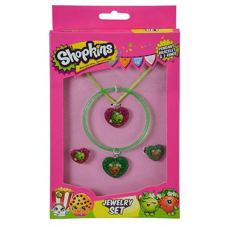 Jewelry Shopkins Apple Heart set of 4 Jewelry Set Jewelry Shopkins Apple Heart set of 4 Jewelry Set