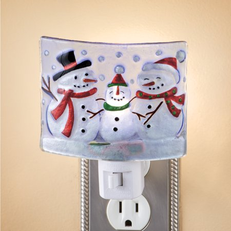 Snowman Family Frosted Glass Night Light Frost Glass Tech Lighting