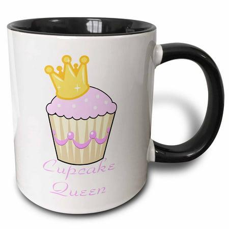 3dRose Cupcake Queen - Two Tone Black Mug, - Queen City Cupcakes