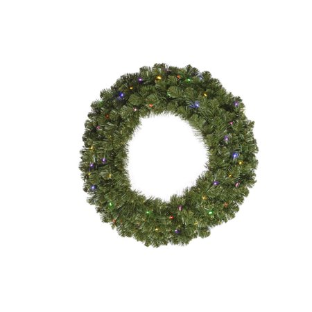 "48"" Grand Teton Artificial Christmas Wreath - Multi LED Lights"