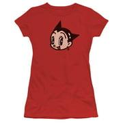 Astro Boy Face Juniors Short Sleeve Shirt