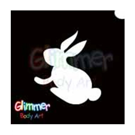 Bunny Make Up (Glimmer Body Art Glitter Stencils Easter Bunny 3)