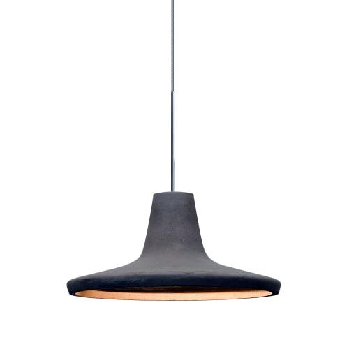 Besa Lighting 1XT-MODUSTN-LED Modus Single Light LED Mini Pendant with Tan Concrete Shade by Besa Lighting