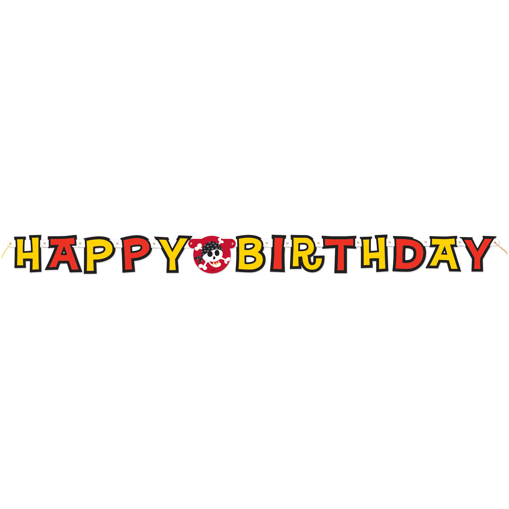 5.5' Pirate Party Happy Birthday Banner