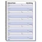 Rediform Voicemail Log Book (Rediform Voice Mail Wirebound Log Books, 8 x 10 5/8, 500 Sets/Book)