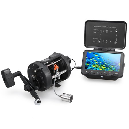 "1000TVL Fish Finder Underwater Ice Fishing Camera with Trolling Reel 4.3"" LCD Monitor 8 Infrared IR LEDs Night Vision Camera 140° Wide Angle 15M / 30M Cable thumbnail"