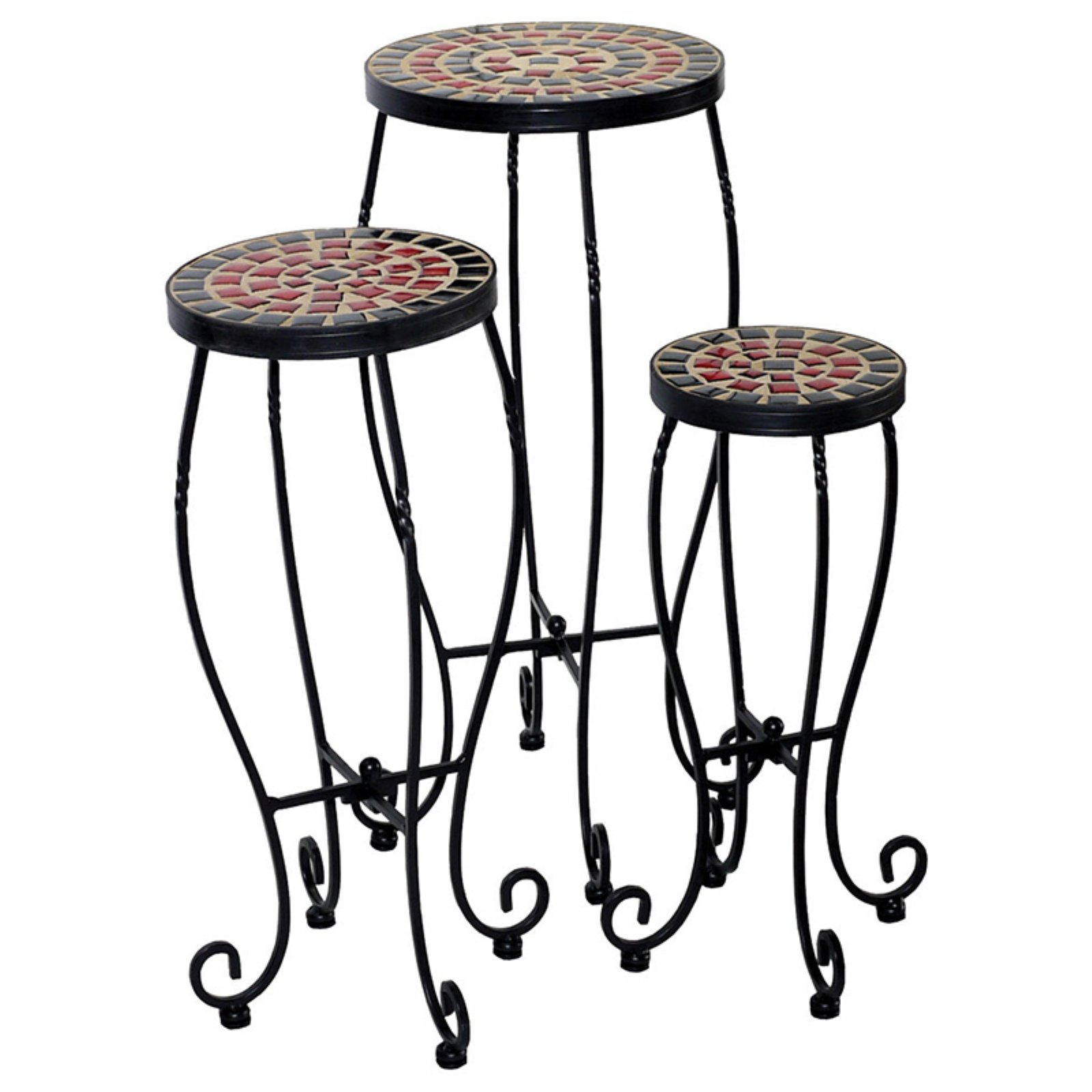 Alfresco Home Stellarton Plant Stands Set of 3 by Alfresco Home