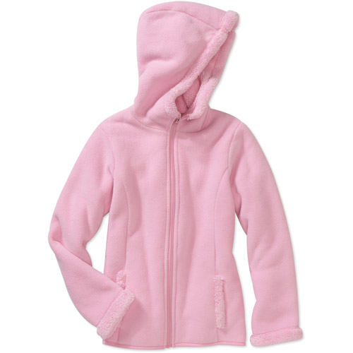Faded Glory Girls' Fleece Bonded Sherpa Hoodie