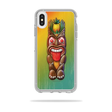MightySkins Skin for OtterBox Symmetry iPhone XS Max Case - Tiki Man | Protective, Durable, and Unique Vinyl Decal wrap cover | Easy To Apply, Remove, and Change Styles | - Tiki Man