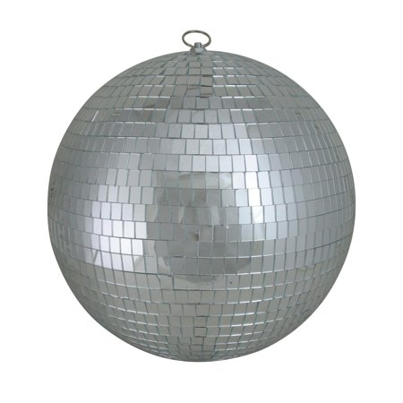 Silver Splendor Mirrored Glass Disco Ball Christmas Ornaments 12