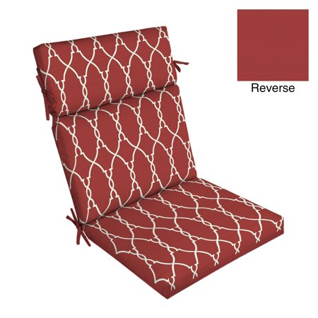 Better Homes & Gardens Red Trellis 44 x 21 in. Outdoor Dining Chair Cushion w EnviroGuard