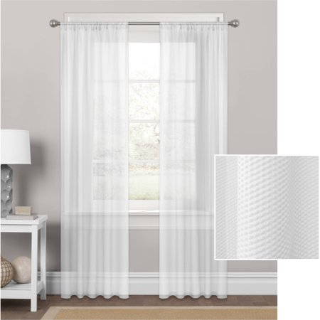 Mainstays Embossed Sheer Window Curtain Panel ()