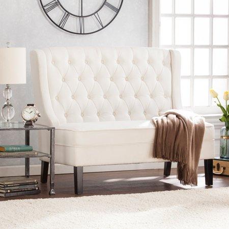 Southern Enterprises Linklea Tufted Indoor Settee - Traditional Settee