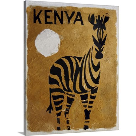 Great BIG Canvas Vintage Apple Collection Premium Thick-Wrap Canvas entitled Kenya