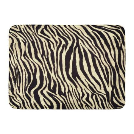 GODPOK Animal Black African Zebra Pattern Skin Africa Rug