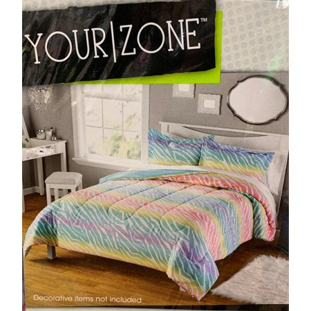 Your Zone Rainbow Zebra Blanket, 1 Each