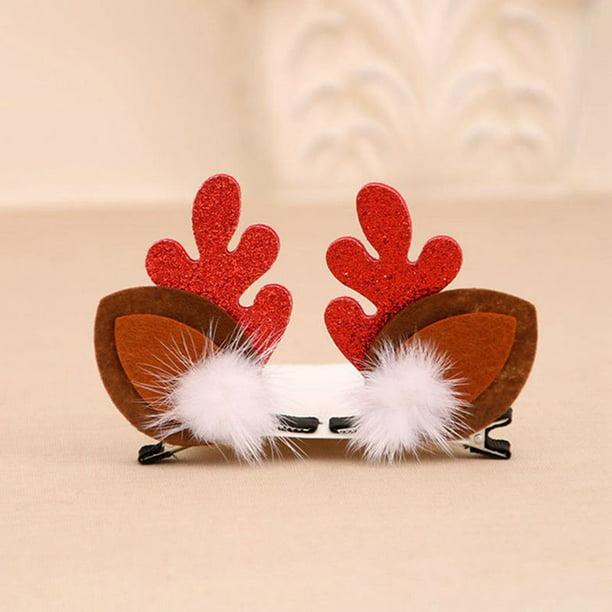 Kids Girls Christmas Hairpin Xmas Elk Barrette Hair Clips Hair Accessories Gifts