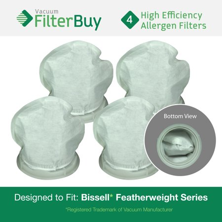 4 - Bissell Featherweight Filters, Part #'s 32019.  Designed by FilterBuy to fit ALL