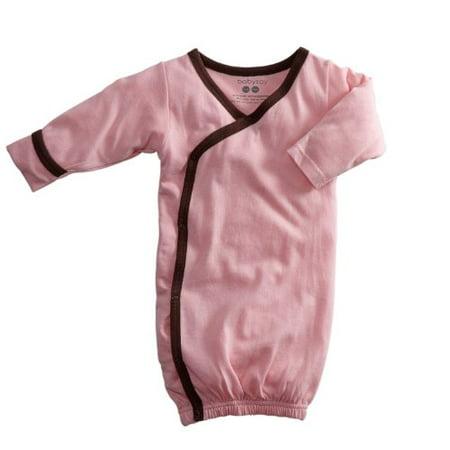 Babysoy Baby Girls Kimono Bundler (Petal/Chocolate, 3-6 Months) ()