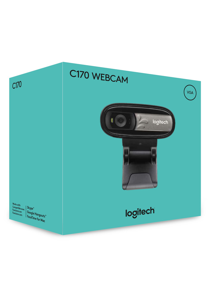 Logitech Webcam Vga Quality Video With Built In Mic C170 Walmart