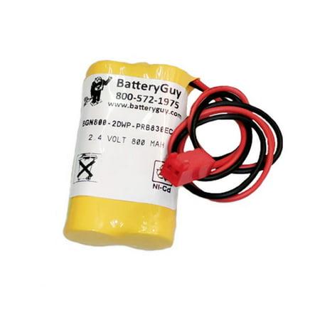 - nickel cadmium battery 2.4v 800mah | bgn800-2dwp-prb830ec (rechargeable)