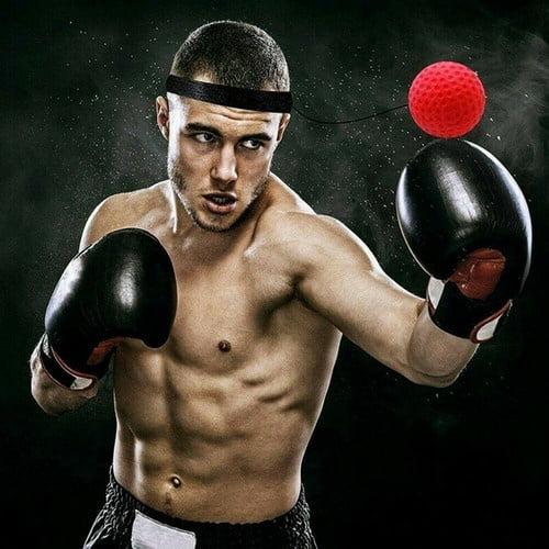 1 Set Fight Ball Reflex Boxing React Training Speed Punch Head Cap String Ball