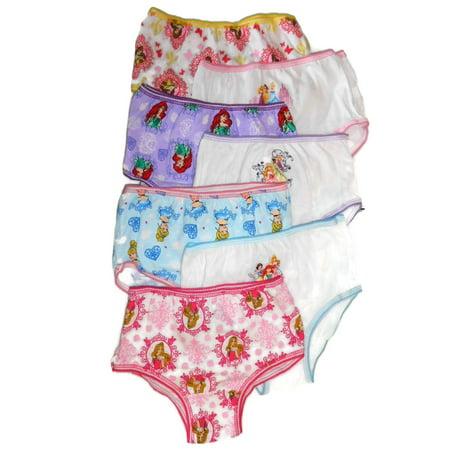 Disney Princess Parties (PRINCESS Panties Toddler Girls' 7-pack 2T/3T, 4T NEW Handcraft)