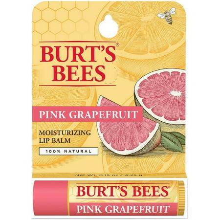 Burt's Bees Pink Grapefruit, Moisturizing Lip Balm 0.15