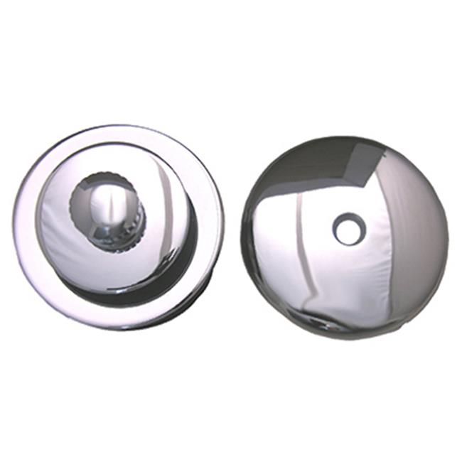LARSEN SUPPLY CO., INC. Bathtub Trim Kit, Lift and Lock Stopper With Overflow Plate, Chrome Plated 03-4891