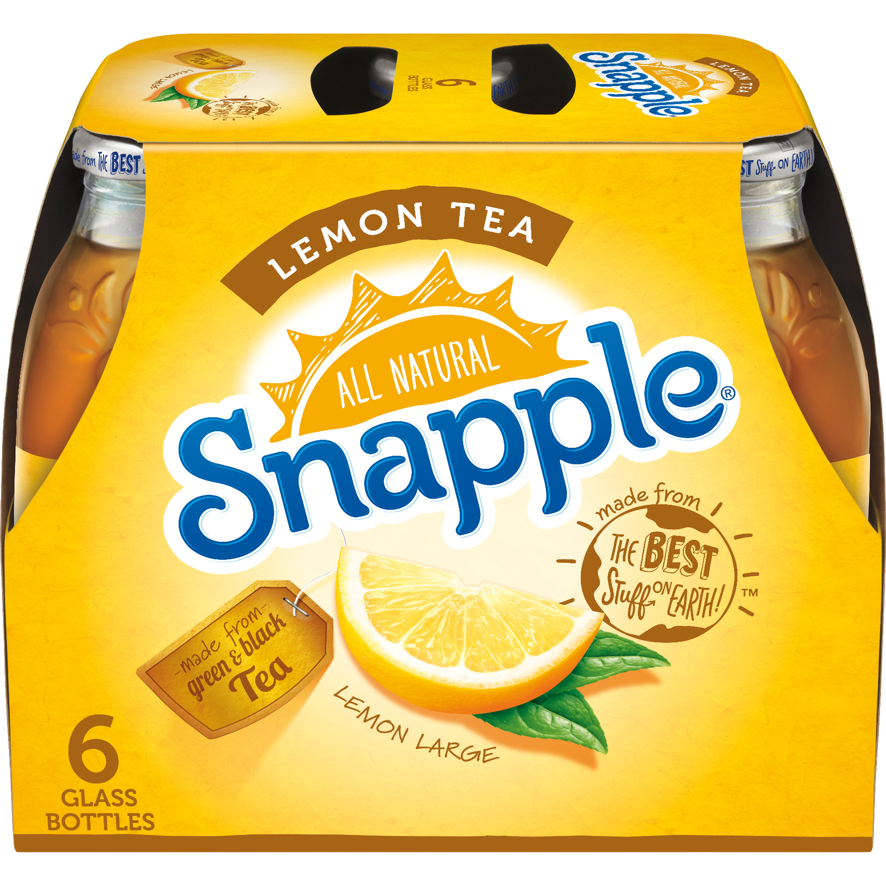 Snapple Lemon Tea, 16 fl oz, 6 pack