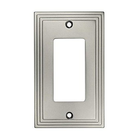 Cosmas 25000-SN Satin Nickel Single GFI / Decora Rocker Wall Switch Plate Switchplate Cover Decora Style Rocker Wall Switch