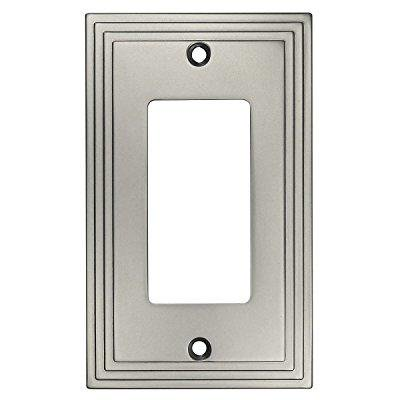 Cosmas 25000-SN Satin Nickel Single GFI / Decora Rocker Wall Switch Plate Switchplate Cover