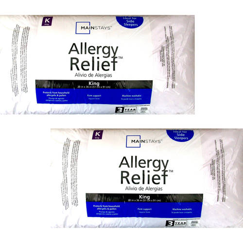 Mainstays Allergy Relief Pillow, Set of 2