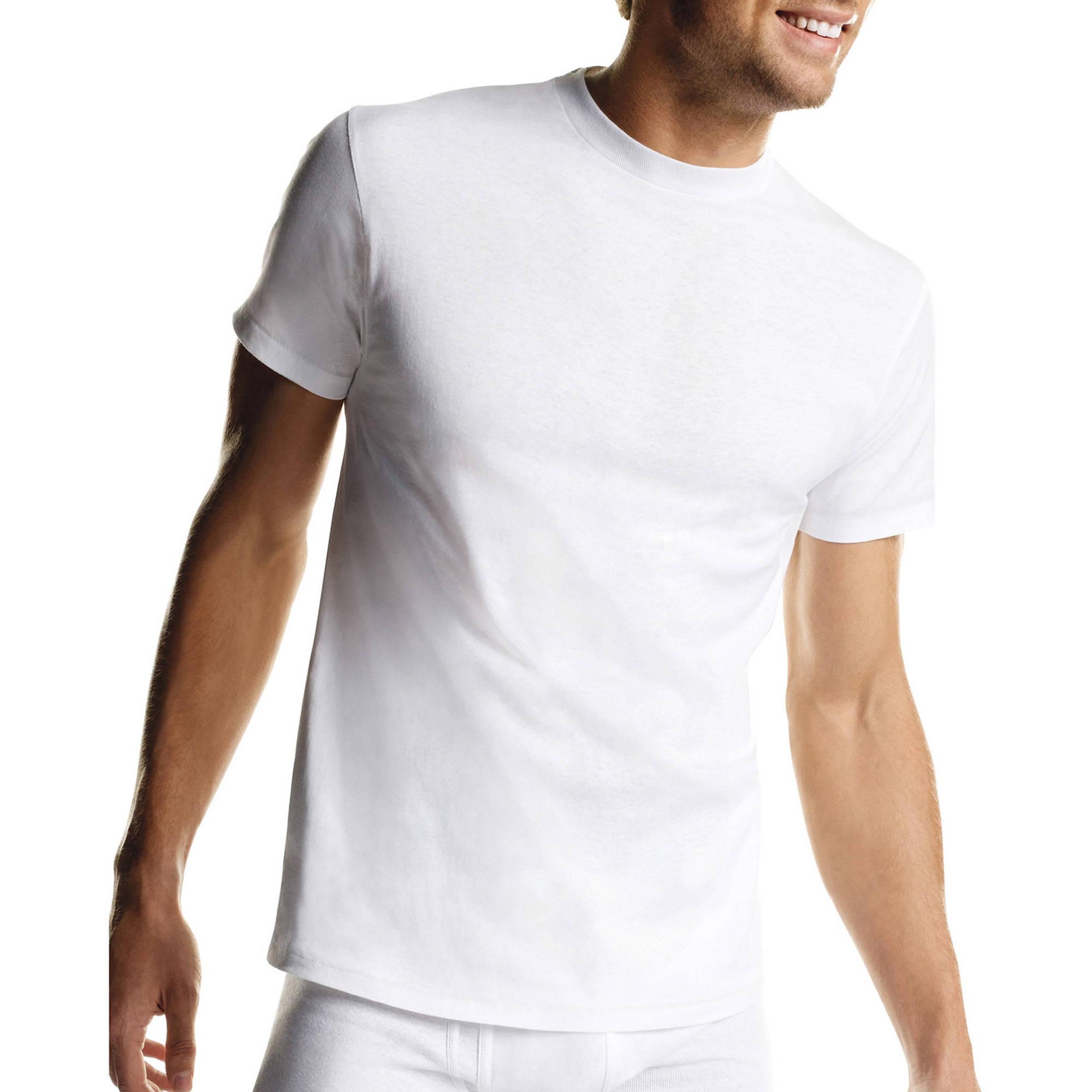 Hanes Mens ComfortSoft White Crew Neck T-Shirt SUPER VALUE 10-Pack