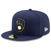 Milwaukee Brewers New Era Home 2020 Authentic Collection On-Field 59FIFTY Fitted Hat - Navy