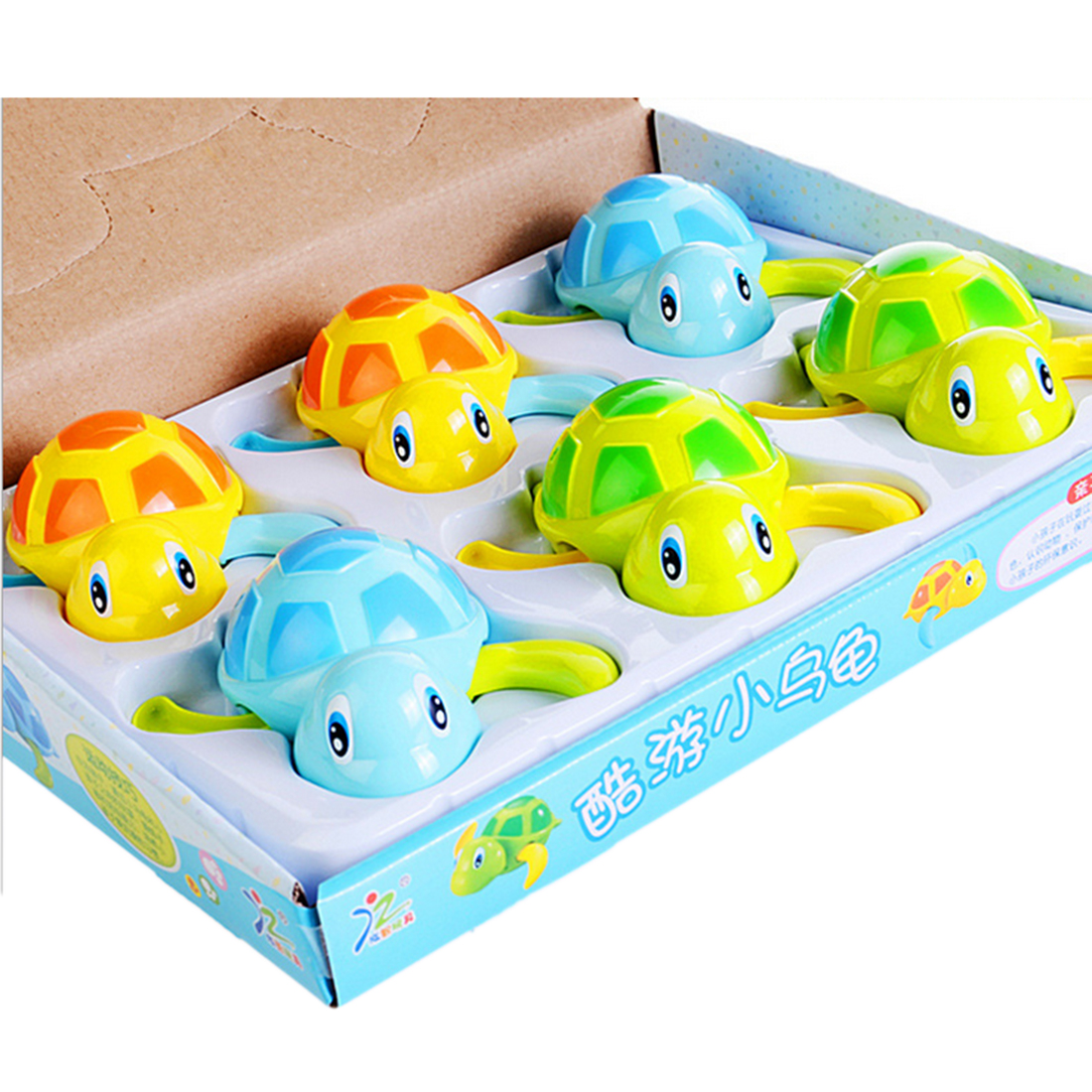 6Pcs Kids Bath Toys Swimming Turtles Bathtub Toys Floating Bath Toy ...