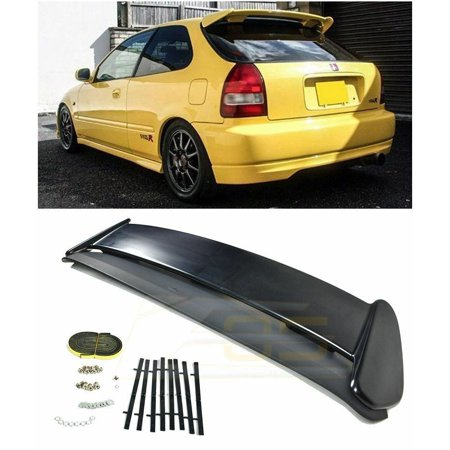 Extreme Online Store for 1996-2000 Honda Civic EJ6 3Dr Hatchback | EOS JDM Type-R Style ABS Plastic Primer Black Rear Roof Top Wing Spoiler CTR EK9 Si - Honda Accord Wing Spoiler