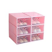 1Pc Portable Plastic Clear Shoe Storage Drawer Stackable Boot Box Organizer Case