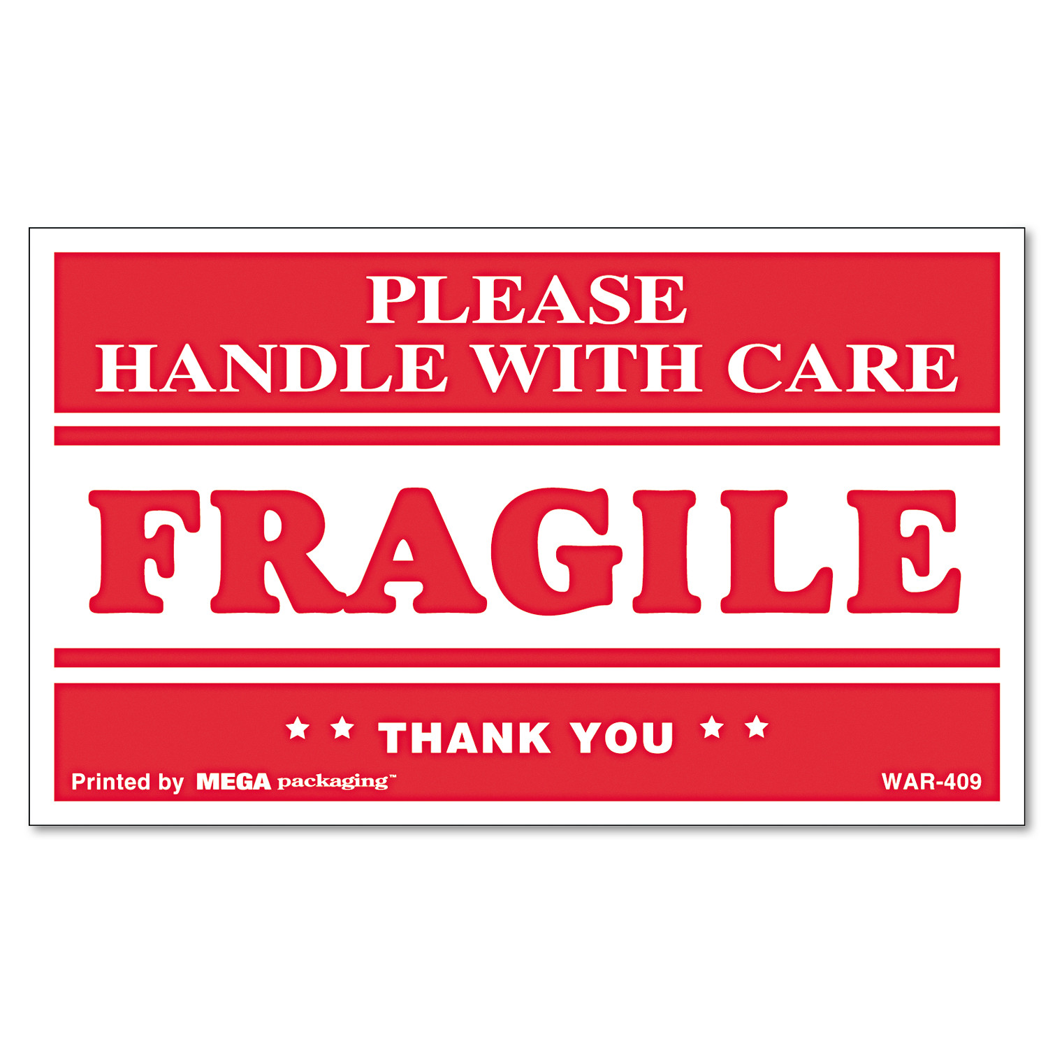 Universal FRAGILE HANDLE WITH CARE Self-Adhesive Shipping Labels, 3 x 5, 500/Roll -UNV308383