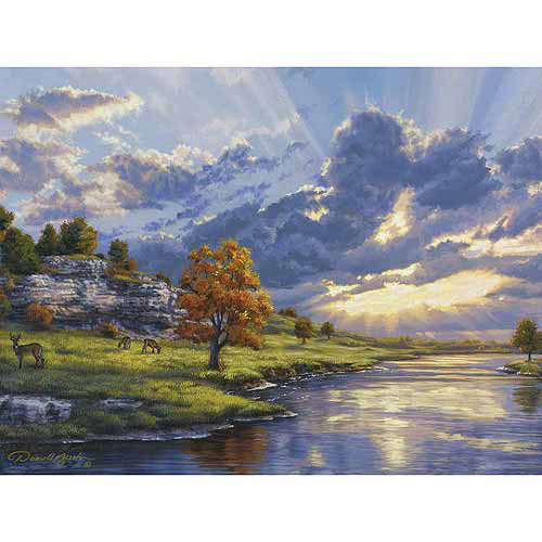 "Reeves Paint By Number Artist's Collection, Sunrise By The River's Edge, 12"" x 16"""