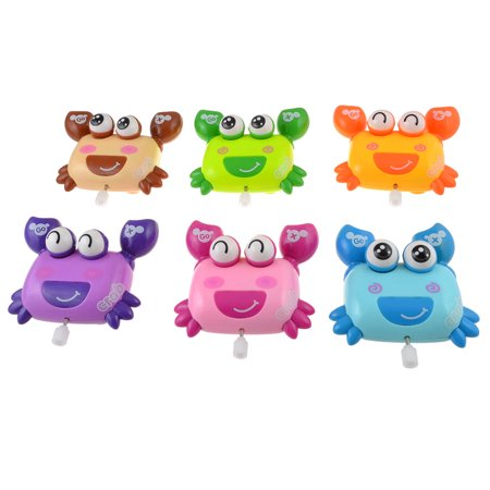 6pcs Wheel Moving Happy Crab Wind-up Fun Action Toys for](Toy Bugle)