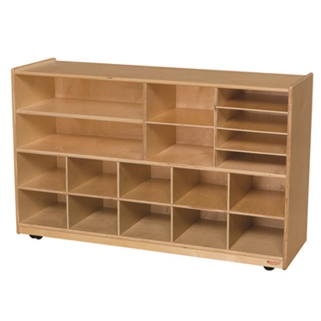 Wood Designs 62909OR Versatile Storage With 10 Orange Trays