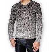 INC NEW Deep Black Ombre Striped Mens Size Medium M Crewneck Knit Sweater $79