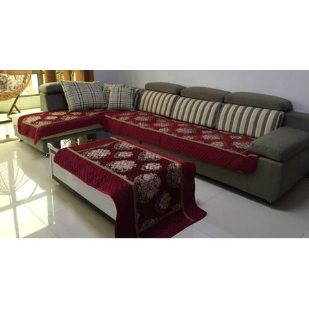 Ofit High Quality Chenille Quilted Sectional Sofa Throw Pads