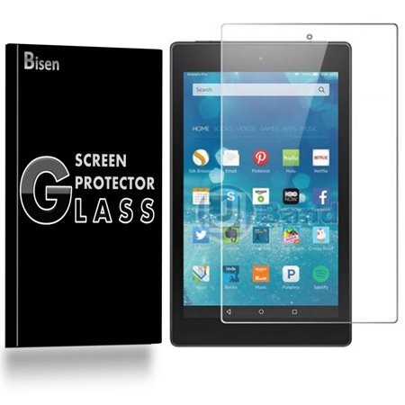 [2-Pack BISEN] Amazon Fire 7 (5th Gen, 2015 Release) Screen Protector  Tempered Glas [Anti-Scratch, Anti-Shock,  Bubble Free] Da Glas Screens Video