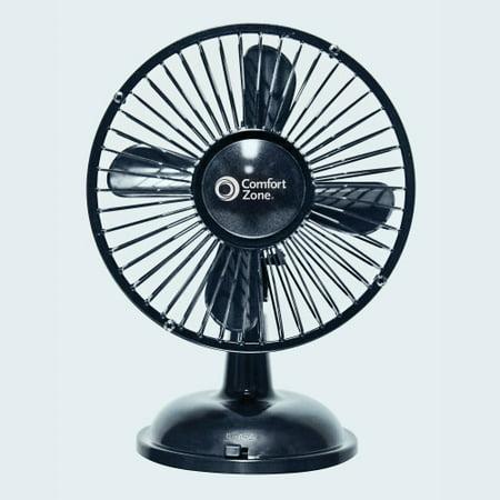 Comfort Zone 5 Quot Oscillating Desk Fan Black Walmart Com