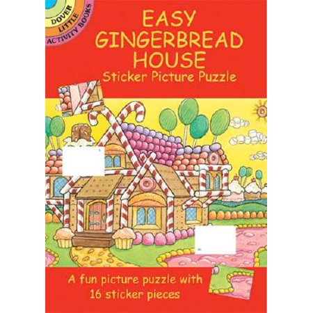 Easy Gingerbread House Sticker Picture -